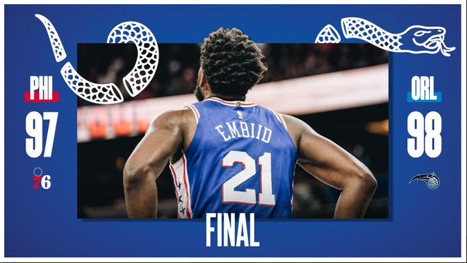NBA : Joel Embiid et Philadelphia 76ers tombent à Orlando Magic